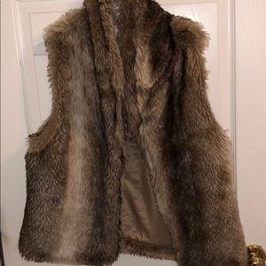 Fur winter vest